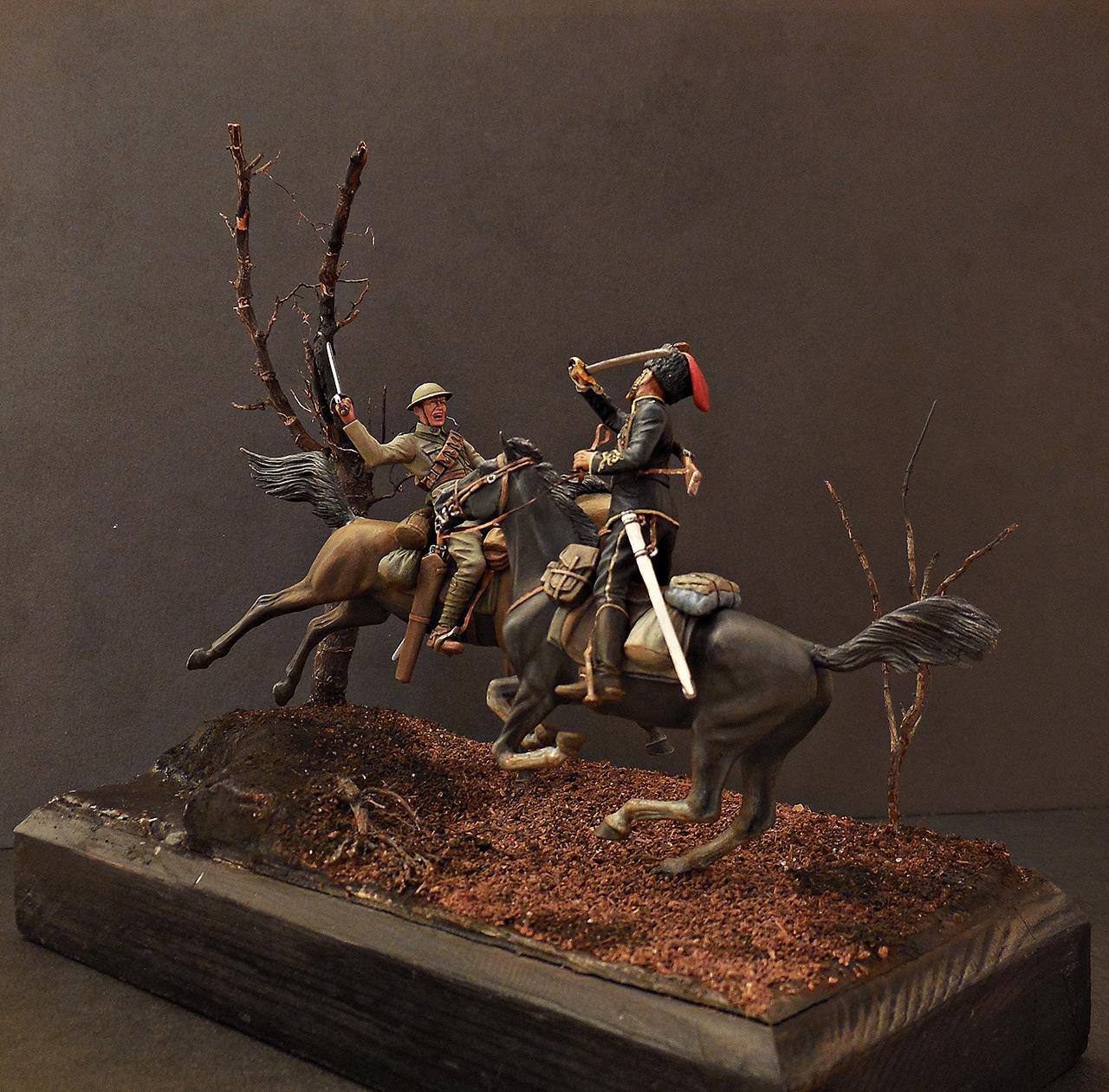 Диорамы и виньетки: Британский и немецкий кавалеристы. ПМВ., фото #2