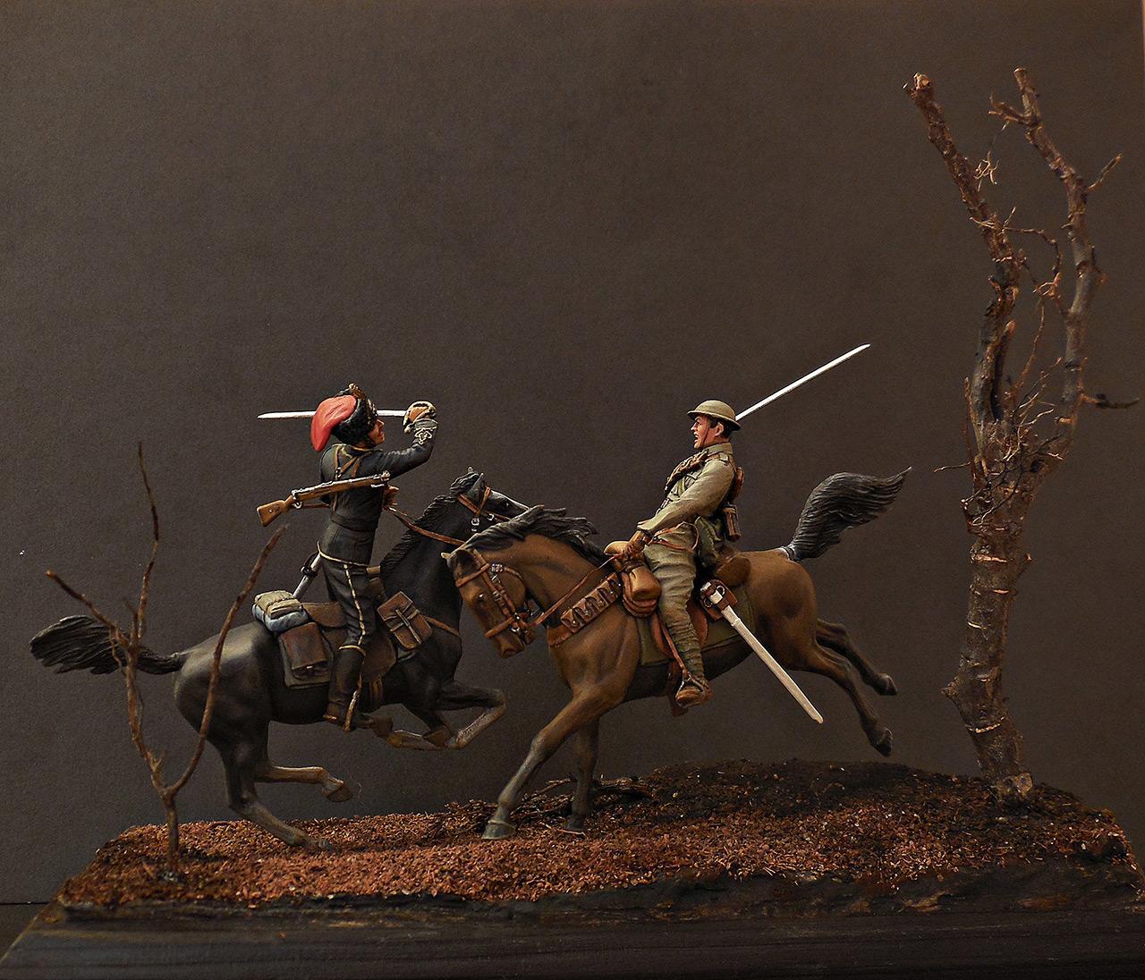 Диорамы и виньетки: Британский и немецкий кавалеристы. ПМВ., фото #4