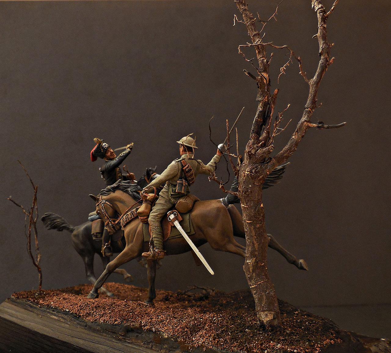 Диорамы и виньетки: Британский и немецкий кавалеристы. ПМВ., фото #5