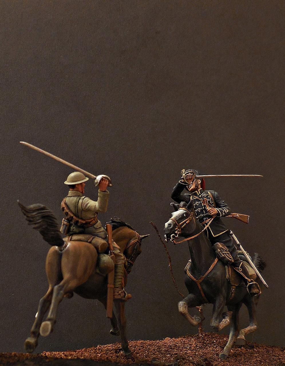 Диорамы и виньетки: Британский и немецкий кавалеристы. ПМВ., фото #6