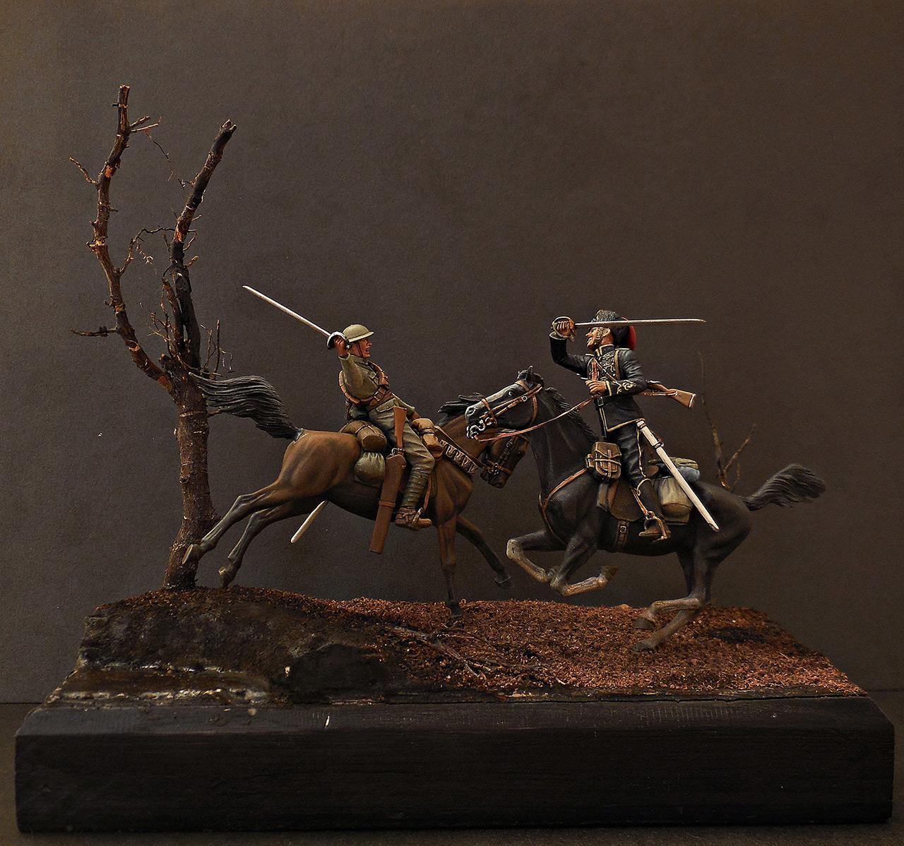 Диорамы и виньетки: Британский и немецкий кавалеристы. ПМВ., фото #7