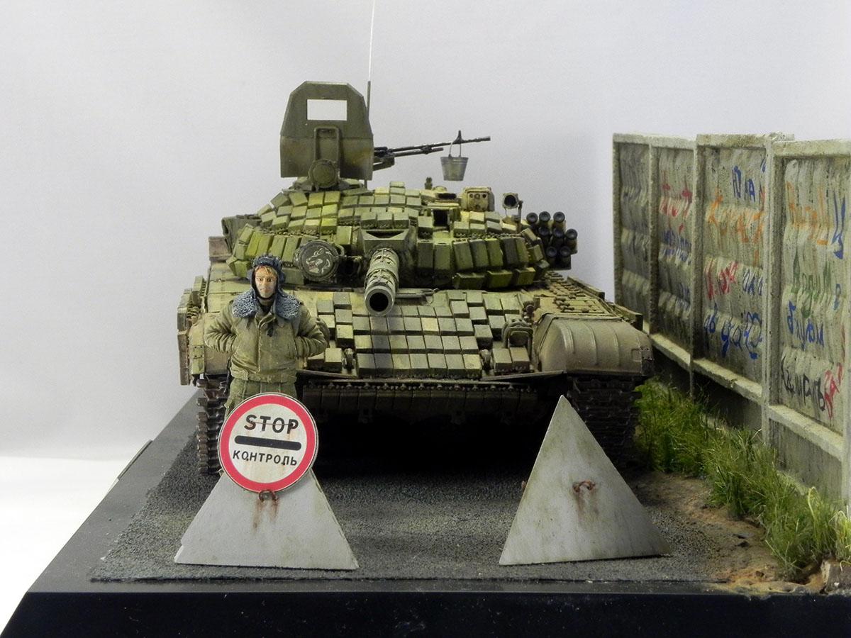 Диорамы и виньетки: Т-72Б1 276 МСП, Чечня, 1995, фото #2