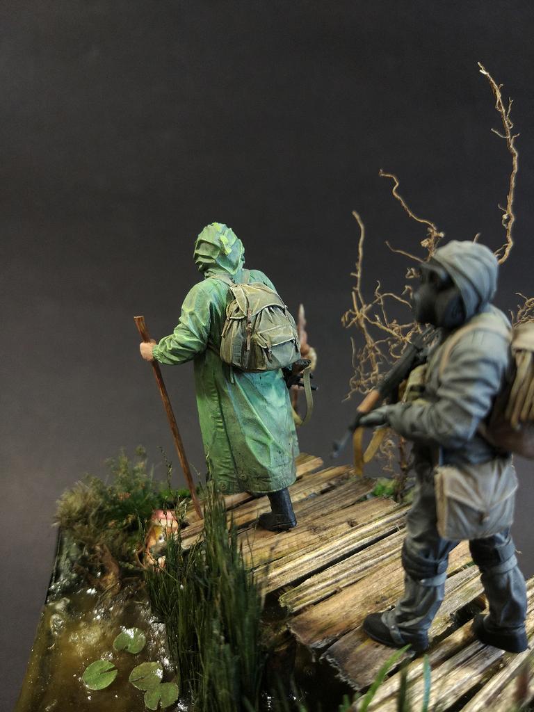 Диорамы и виньетки: На болоте, фото #12