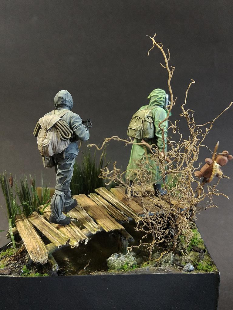 Диорамы и виньетки: На болоте, фото #3
