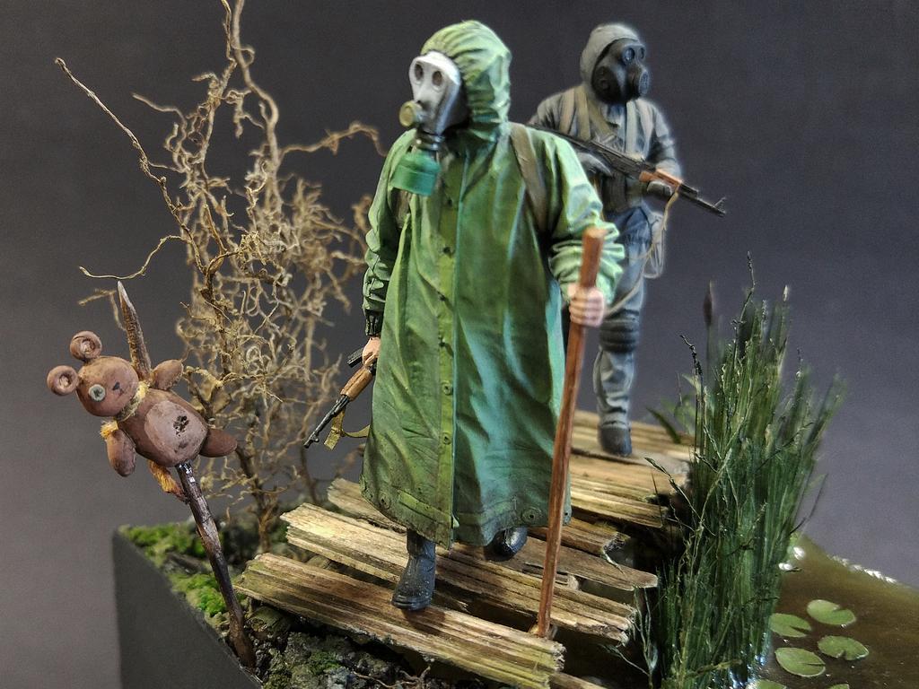 Диорамы и виньетки: На болоте, фото #5