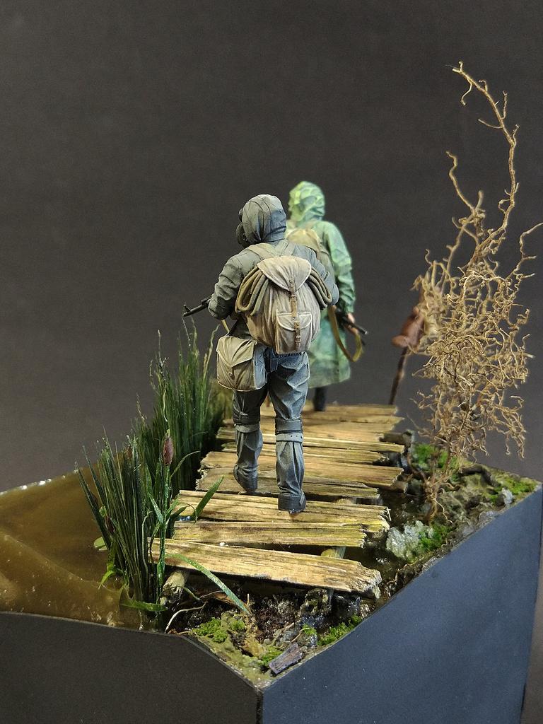 Диорамы и виньетки: На болоте, фото #9