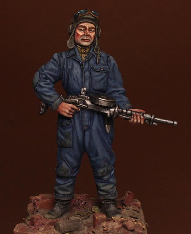 Фигурки: Танкист с пулеметом ДТ, 1943-45 гг.