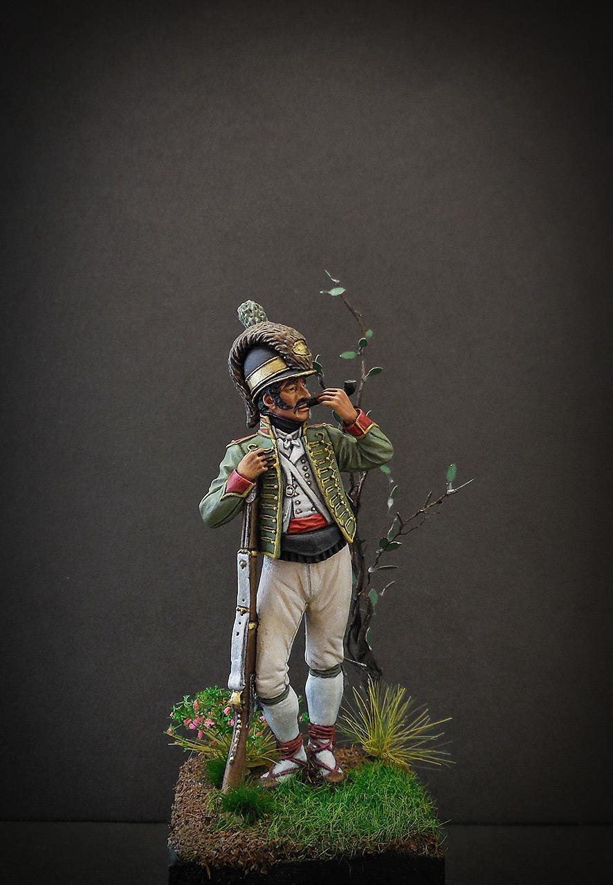 Фигурки: Рядовой Каталонского батальона лёгкой пехоты. Испания, 1807-08, фото #1