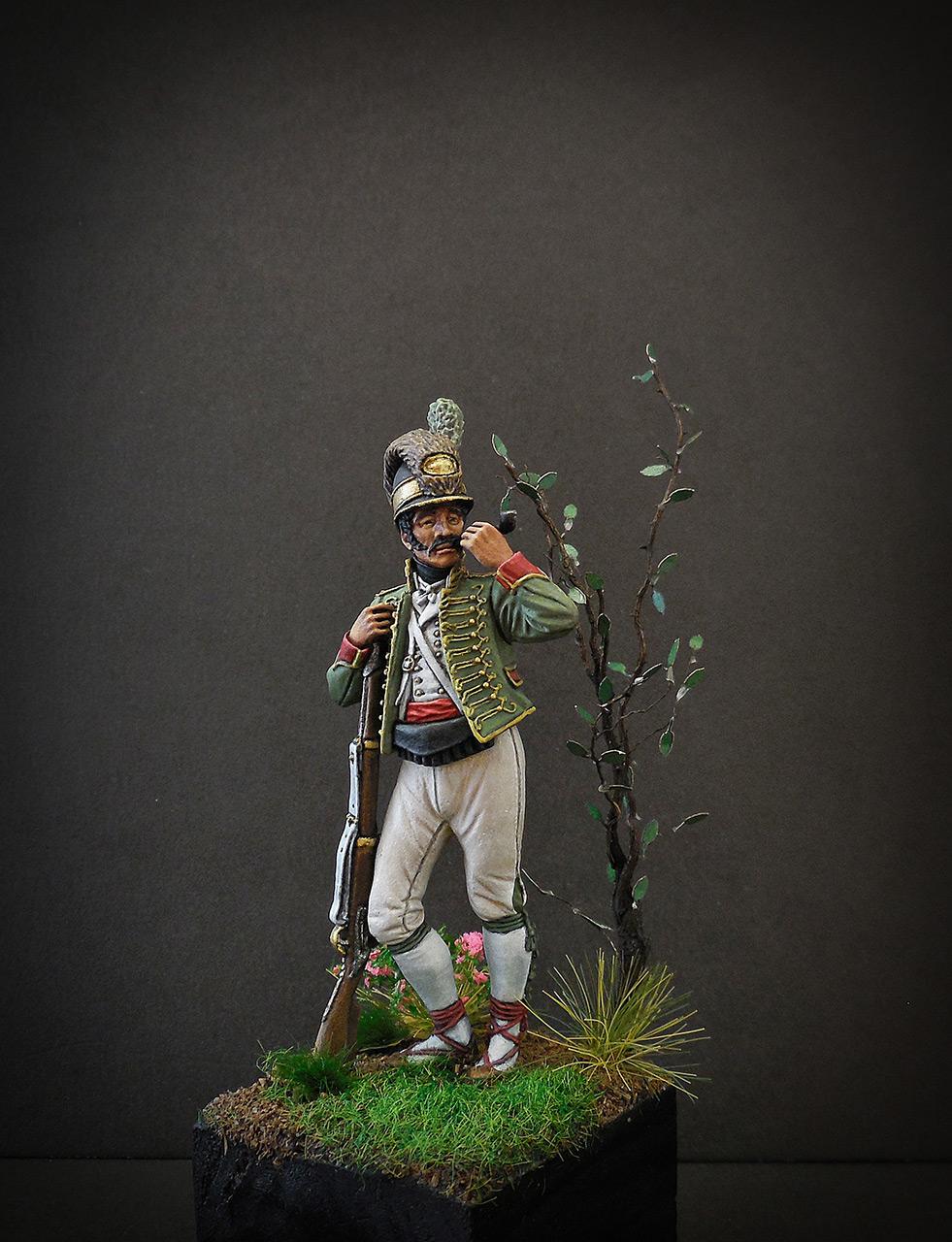Фигурки: Рядовой Каталонского батальона лёгкой пехоты. Испания, 1807-08, фото #2