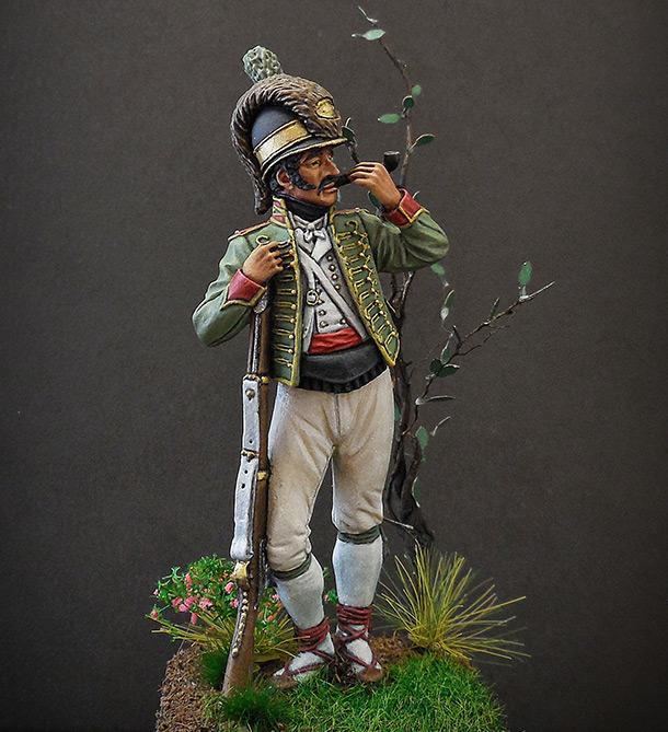Фигурки: Рядовой Каталонского батальона лёгкой пехоты. Испания, 1807-08