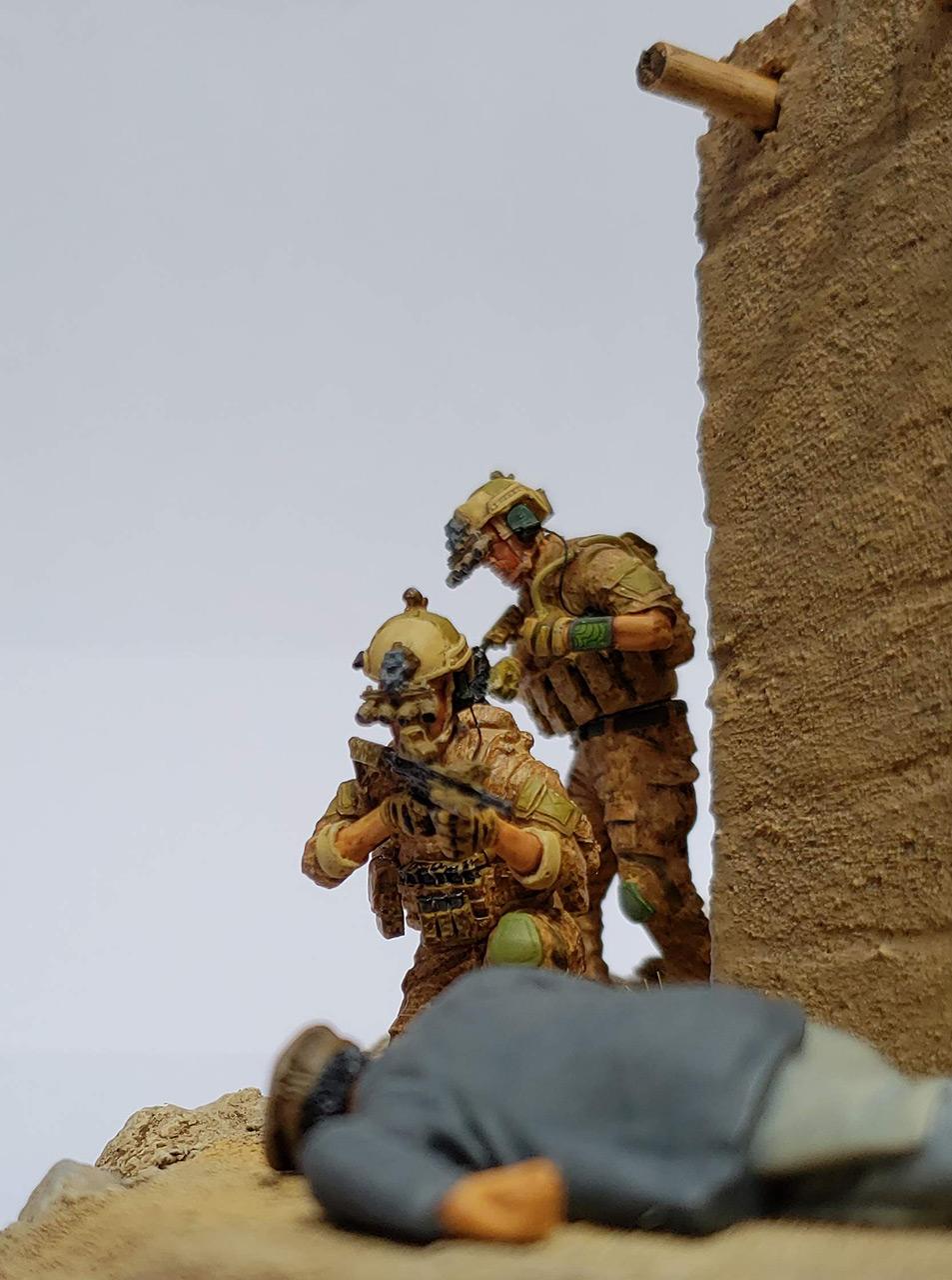 Диорамы и виньетки: Navy SEAL в Афганистане, фото #11