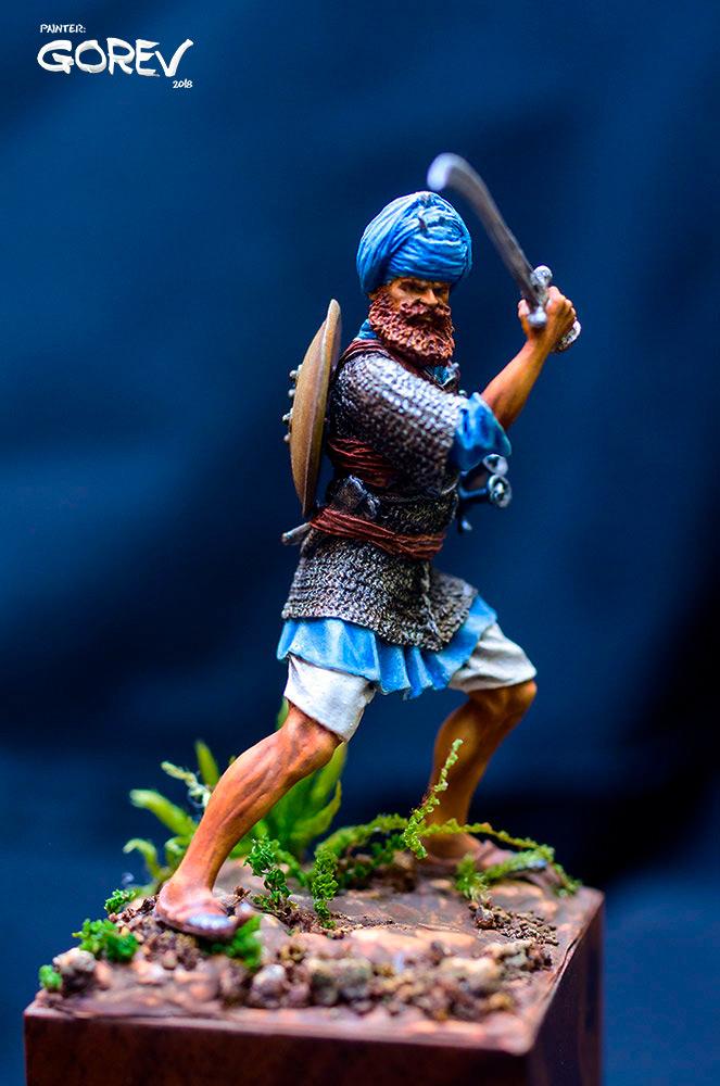 Фигурки: Воин - Акали, армия Сикхов, Индия, XVII в., фото #2