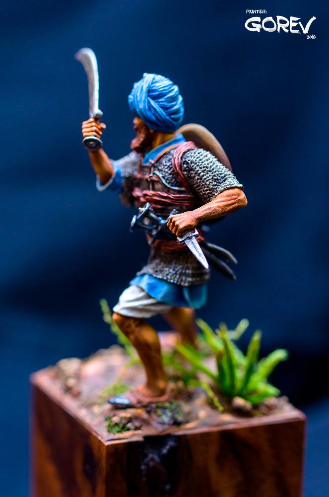 Фигурки: Воин - Акали, армия Сикхов, Индия, XVII в., фото #3