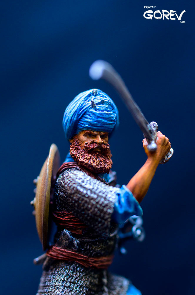 Фигурки: Воин - Акали, армия Сикхов, Индия, XVII в., фото #6