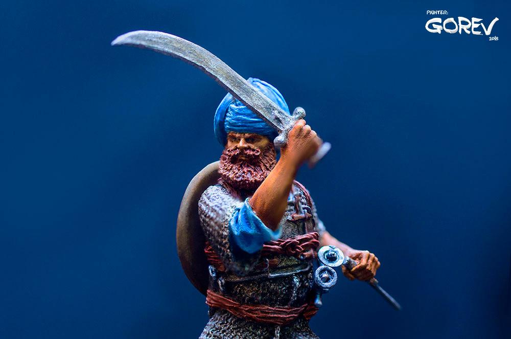Фигурки: Воин - Акали, армия Сикхов, Индия, XVII в., фото #7