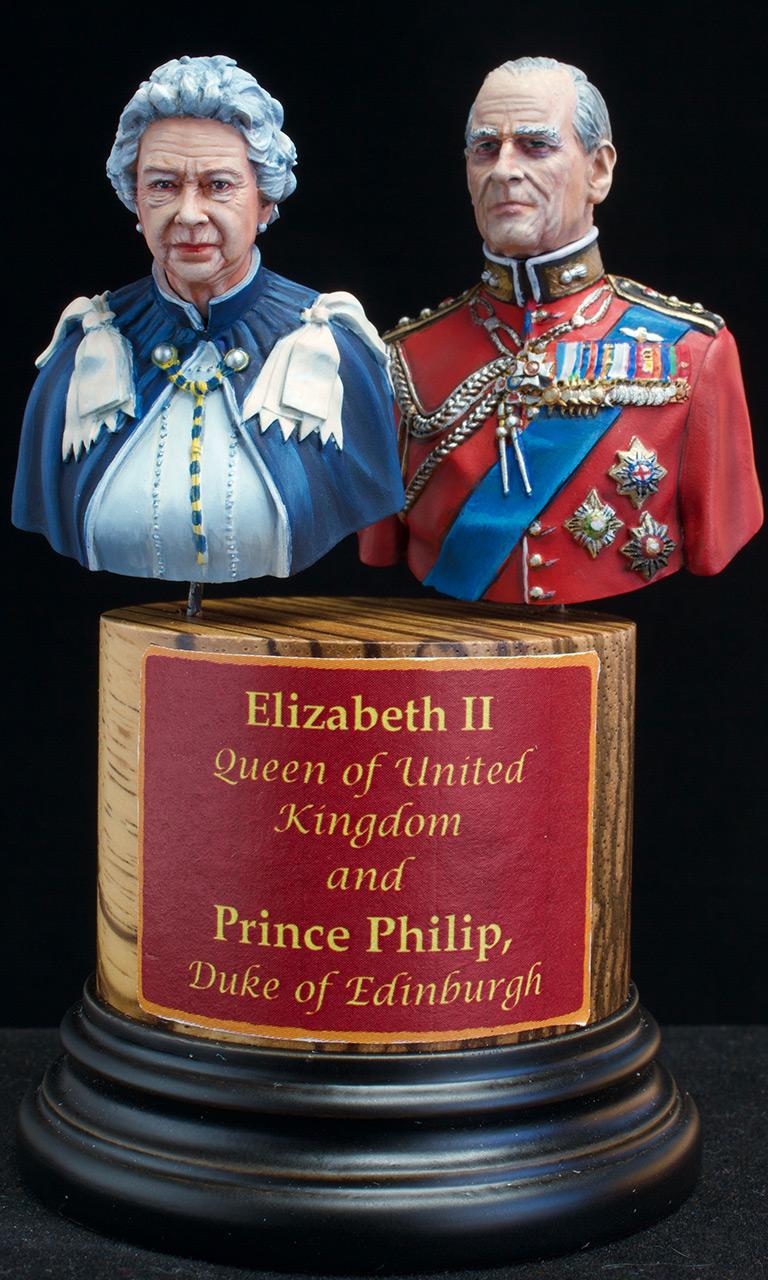 Фигурки:  Елизавета Вторая и Принц Филип, фото #1