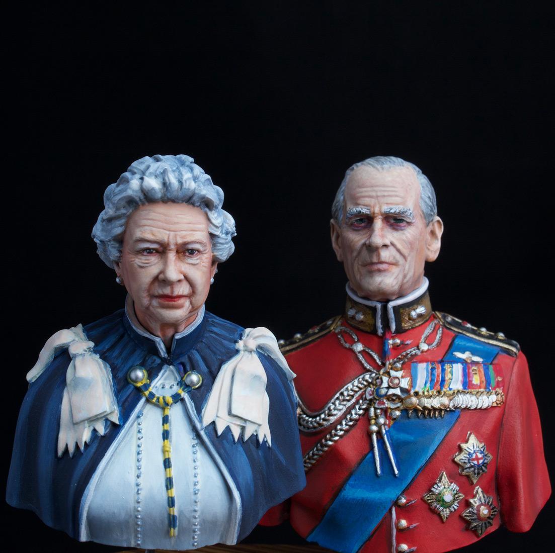 Фигурки:  Елизавета Вторая и Принц Филип, фото #3