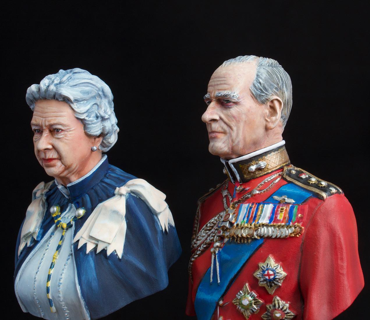 Фигурки:  Елизавета Вторая и Принц Филип, фото #4