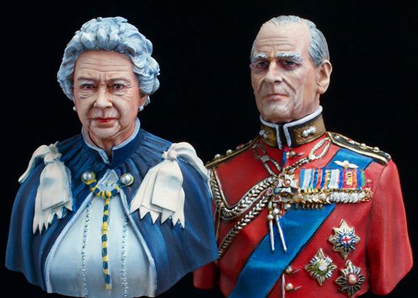 Фигурки:  Елизавета Вторая и Принц Филип