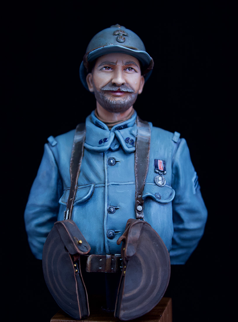Фигурки: Французский пулеметчик, 62й полк, 1916, фото #2