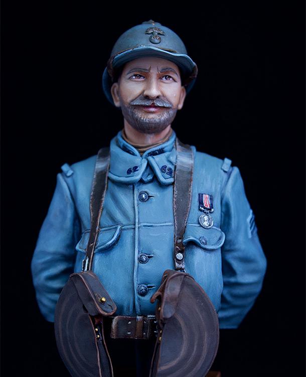 Фигурки: Французский пулеметчик, 62й полк, 1916