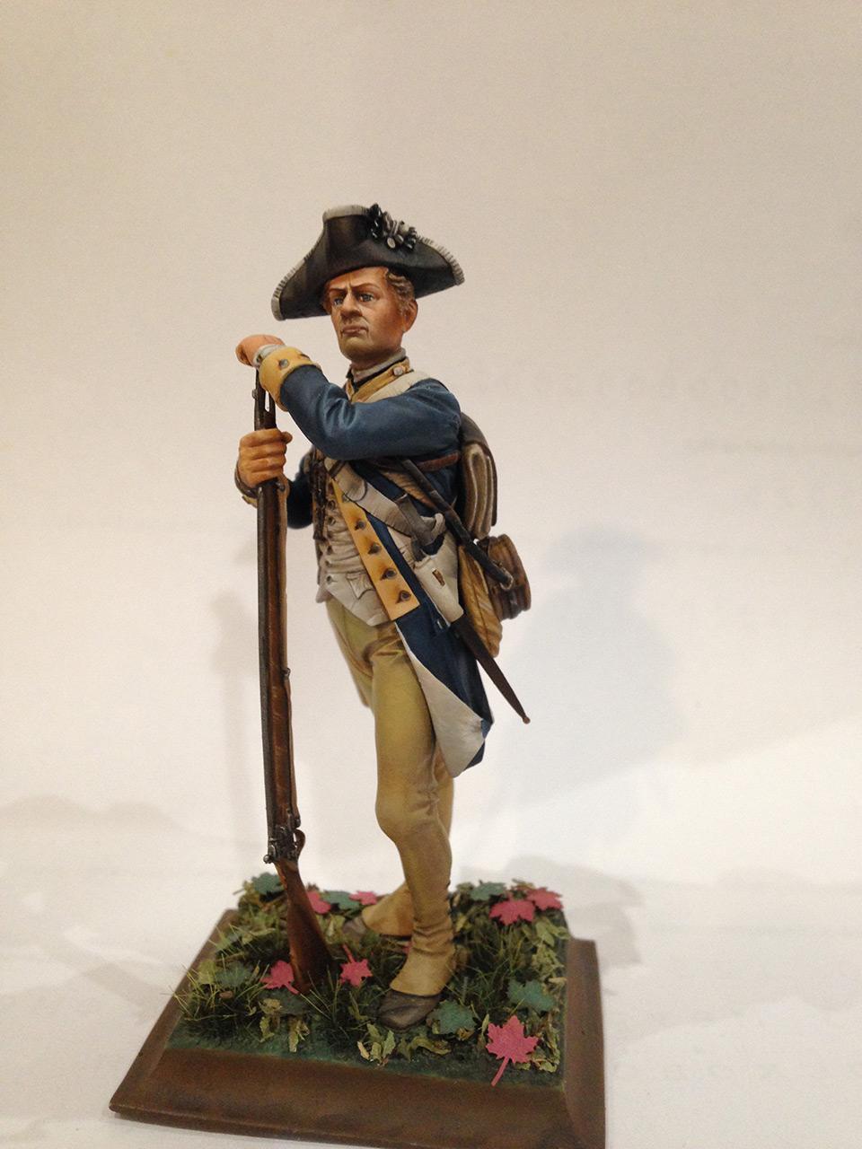 Фигурки:  Рядовой 1-го Нью-Йоркского полка Континентальной армии, фото #1
