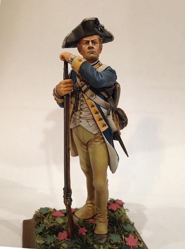 Фигурки:  Рядовой 1-го Нью-Йоркского полка Континентальной армии