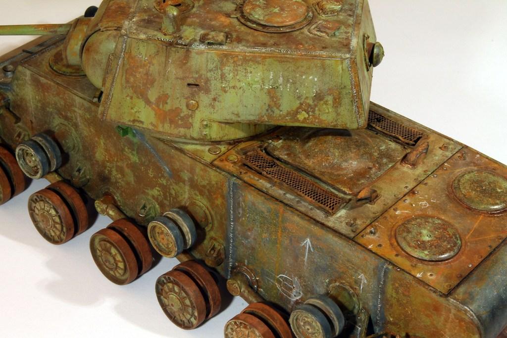 Диорамы и виньетки: КВ-1 на реставрации, фото #13