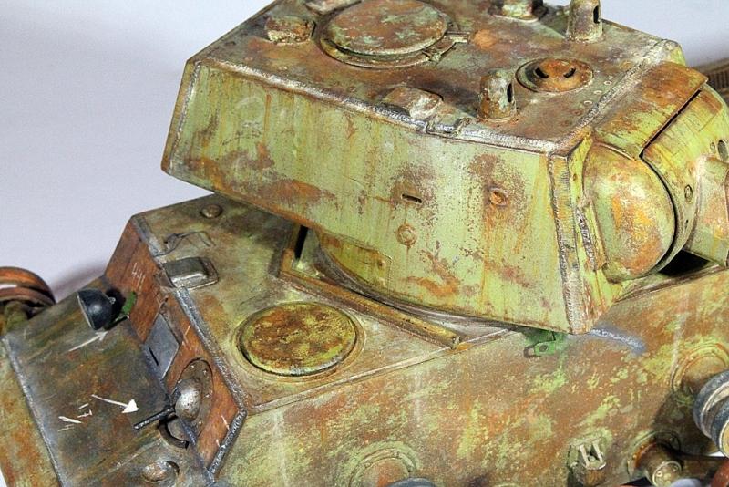 Диорамы и виньетки: КВ-1 на реставрации, фото #14