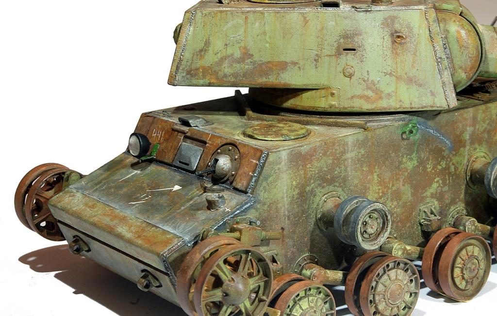 Диорамы и виньетки: КВ-1 на реставрации, фото #15