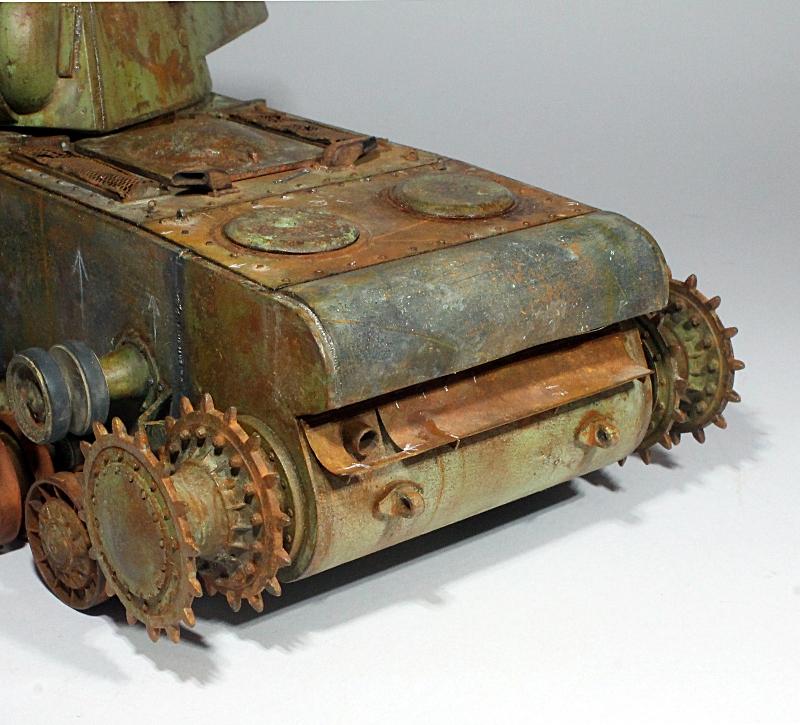 Диорамы и виньетки: КВ-1 на реставрации, фото #18