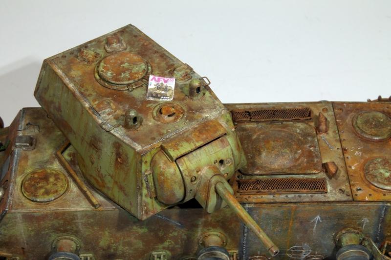 Диорамы и виньетки: КВ-1 на реставрации, фото #19