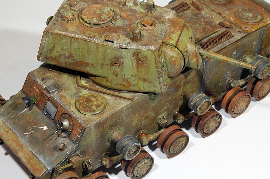 Диорамы и виньетки: КВ-1 на реставрации, фото #20