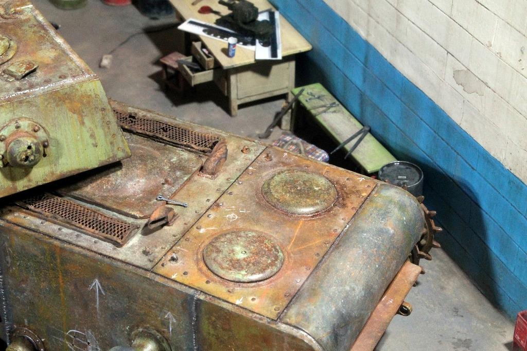 Диорамы и виньетки: КВ-1 на реставрации, фото #5
