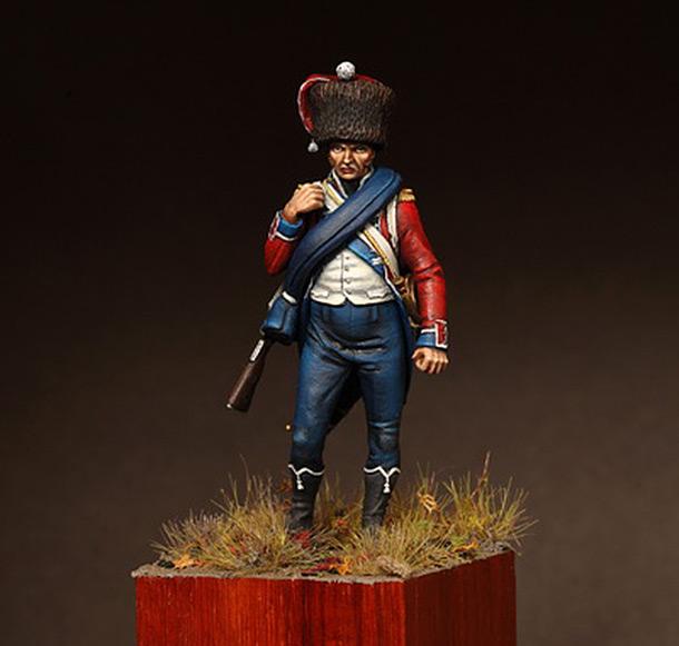 Фигурки: Корнет карабинерной роты 15-ого полка лёгкой пехоты