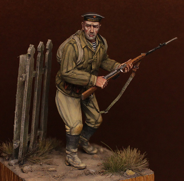 Фигурки: Краснофлотец 83-й ОБрМП ЧФ, район Туапсе, октябрь 1942 г.