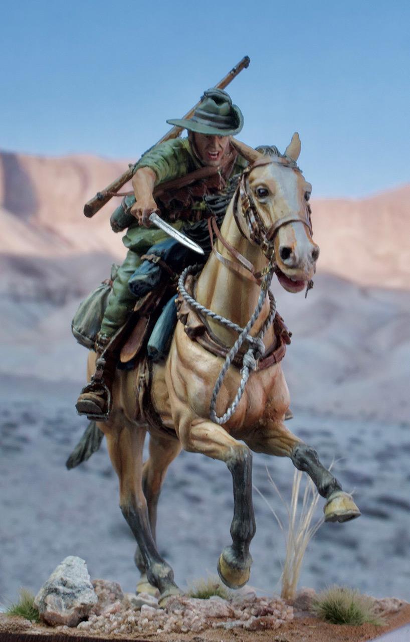 Фигурки: Боец Австралийской легкой кавалерии, Первая Мировая война, Беэр-Шева, 1917 год., фото #1