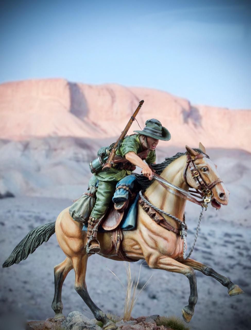 Фигурки: Боец Австралийской легкой кавалерии, Первая Мировая война, Беэр-Шева, 1917 год., фото #2