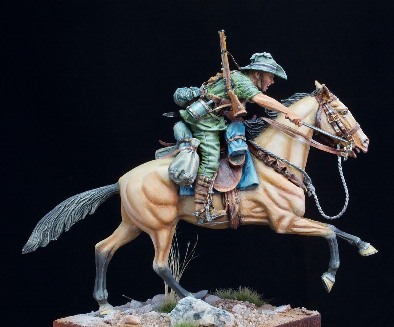 Фигурки: Боец Австралийской легкой кавалерии, Первая Мировая война, Беэр-Шева, 1917 год., фото #7