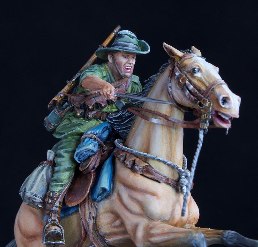 Фигурки: Боец Австралийской легкой кавалерии, Первая Мировая война, Беэр-Шева, 1917 год., фото #8