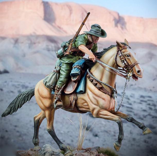 Фигурки: Боец Австралийской легкой кавалерии, Первая Мировая война, Беэр-Шева, 1917 год.
