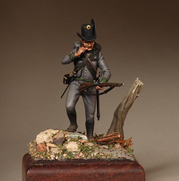 Фигурки: Рядовой егерского батальона. Австрия 1809-14.