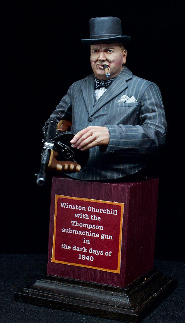 Фигурки: Уинстон Черчилль с автоматом Томпсона, 1940 г., фото #3
