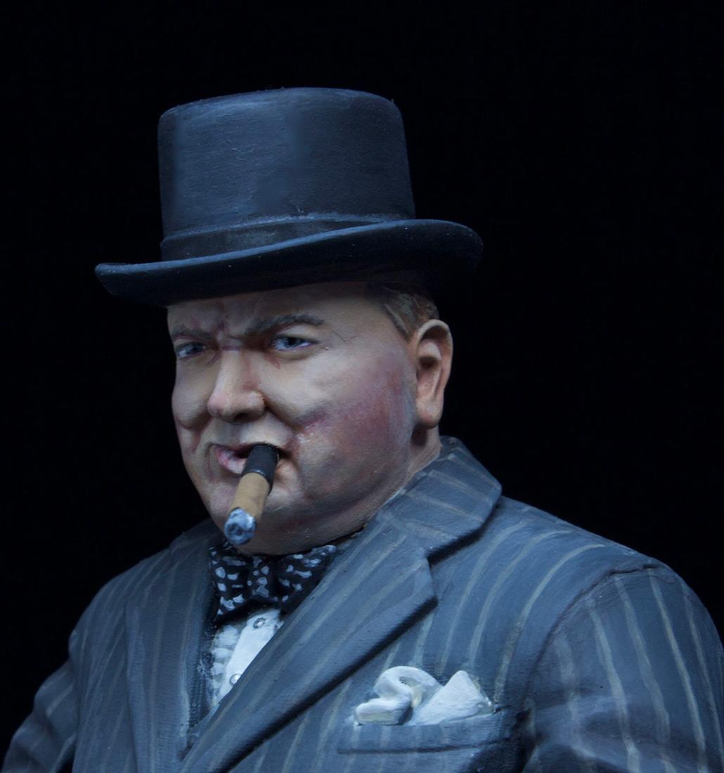 Фигурки: Уинстон Черчилль с автоматом Томпсона, 1940 г., фото #5