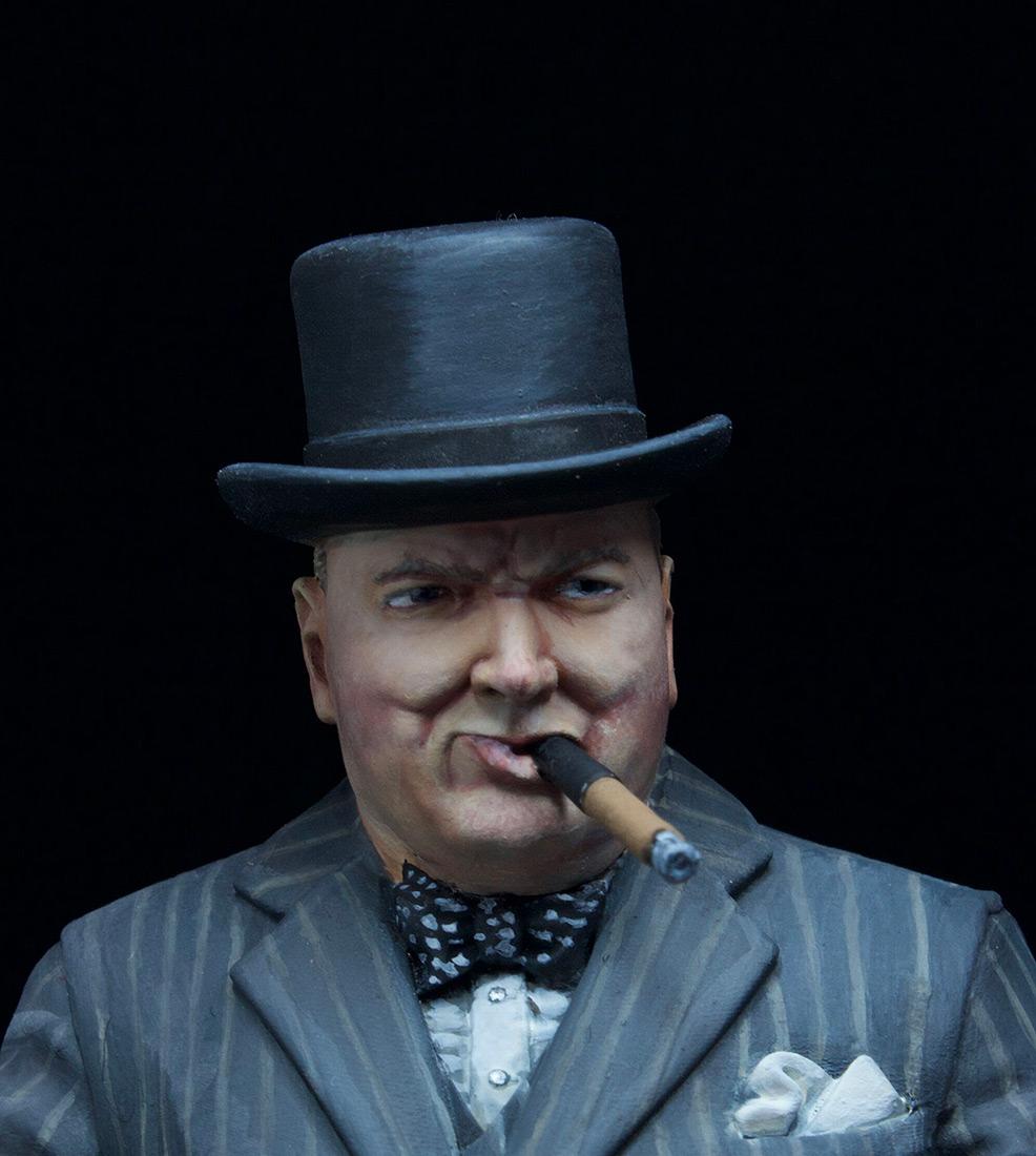 Фигурки: Уинстон Черчилль с автоматом Томпсона, 1940 г., фото #7