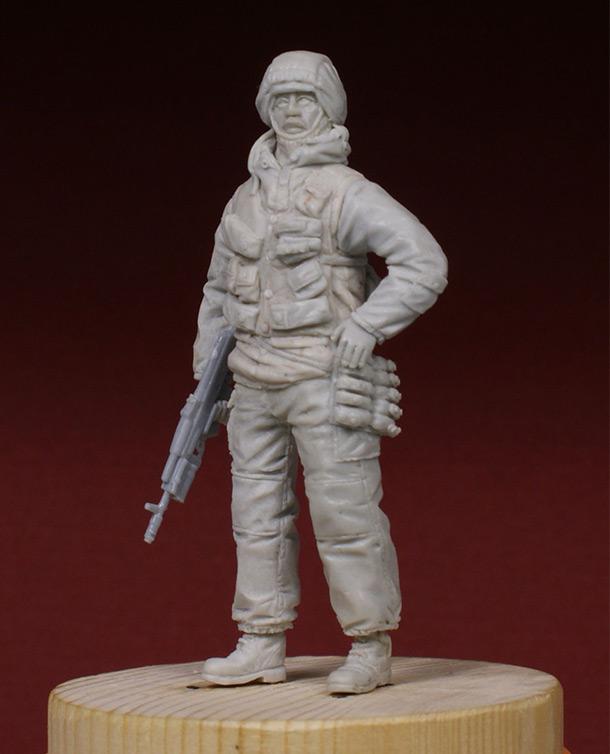 Скульптура: Разведчик 21 ОБРОН. 1995-й год.