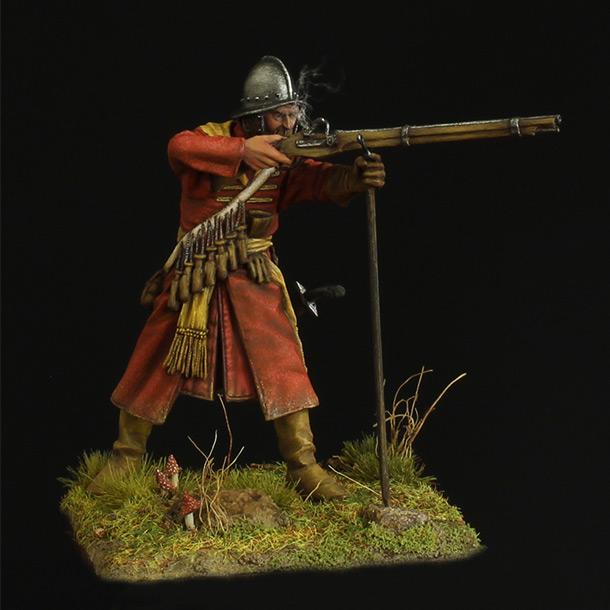 Фигурки: Мушкетер полка иноземного строя, XVII в.