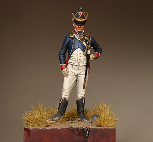 Фигурки: Лейтенант Тиральер-Шассер Молодой Гвардии. Франция. 1812 г.