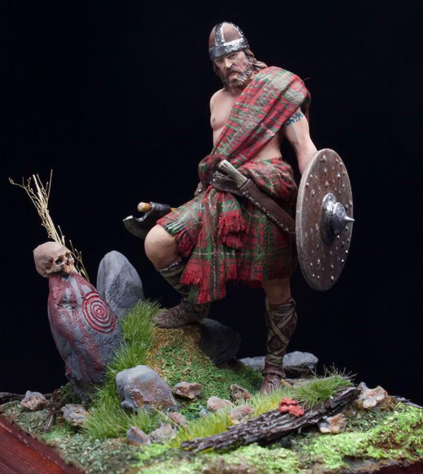 Фигурки: Шотландский горец, XII-XII век
