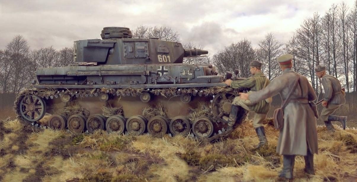Диорамы и виньетки: Трофейный Pz-IV Ausf.F1, фото #1